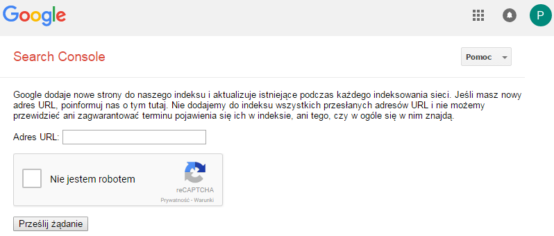 submit url do google