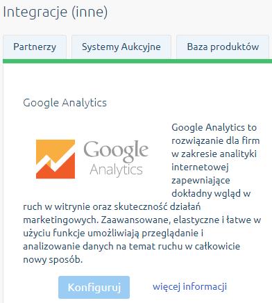 konfiguruj google analytics