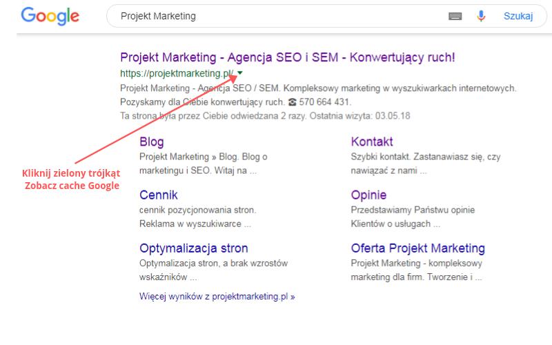 cache google jak sprawdzić